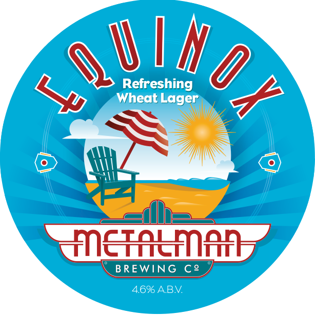 Equinox is an unfiltered, refreshing wheat lager. Hazy bright yellow, smooth and refreshing, with a light dry finish. Orange and lemon peel are added to the brew kettle for a burst of citrus, along with some ground coriander to give a hint of spice on the end - tantalizingly quaffable!